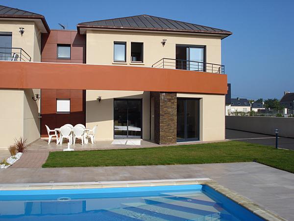 Carrelage piscine en Bretagne, pour maison du0026#39;architecte