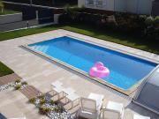 Carrelage piscine en Bretagne, pour maison d'architecte